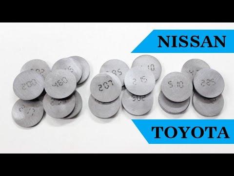 Регулировочные шайбы клапанов своими руками на 27 мм диаметр. Регулировка зазоров клапанов Nissan.