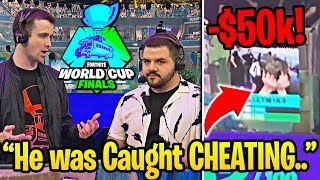 14 Year Old CAUGHT CHEATING at Fortnite World Cup! (DISQUALIFIED)
