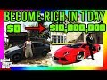 Gambar cover GTA 5 - HOW TO BECOME RICH IN 1 DAY! STARTING FROM LEVEL 1!! THE ULTIMATE GUIDE TO BE A MILLIONAIRE!