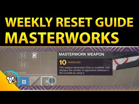 This Week in Destiny: Masterwork Guide + New Consumables