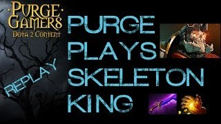 Dota 2 Purge plays Skeleton King