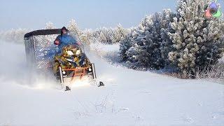 Чего России не хватает? Снега? или снегоходов?(Грузовой снегоход, как воплощённая мечта Емели о самоходной печке. Снегоход