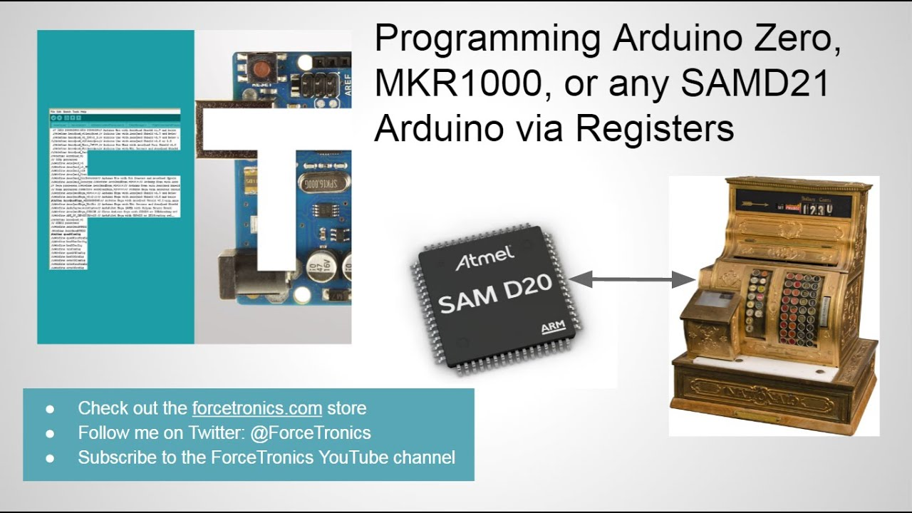 Programming Arduino Zero, MKR1000, or any SAMD21 Arduino via Registers