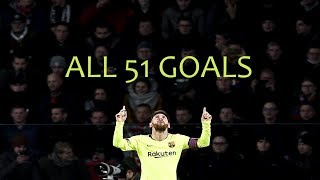 Lionel Messi ● All 51 Goals in 2018 ● With Commentaries