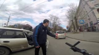 ДТП велосипедист   Honda, Новосибирск(Видео с канала Velo 54 http://news.ngs.ru/more/2139472/, 2015-04-30T11:21:44.000Z)