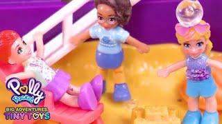 Summer Trip! 💜🌞Polly Pocket: Big Adventures, Tiny Toys   Cartoons for Children