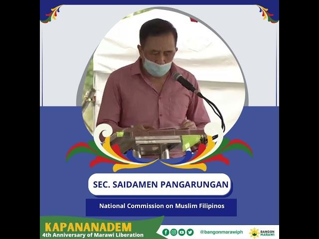 [MESSAGE OF PEACE ] NCMF  Sec. Saidamen Pangarungan