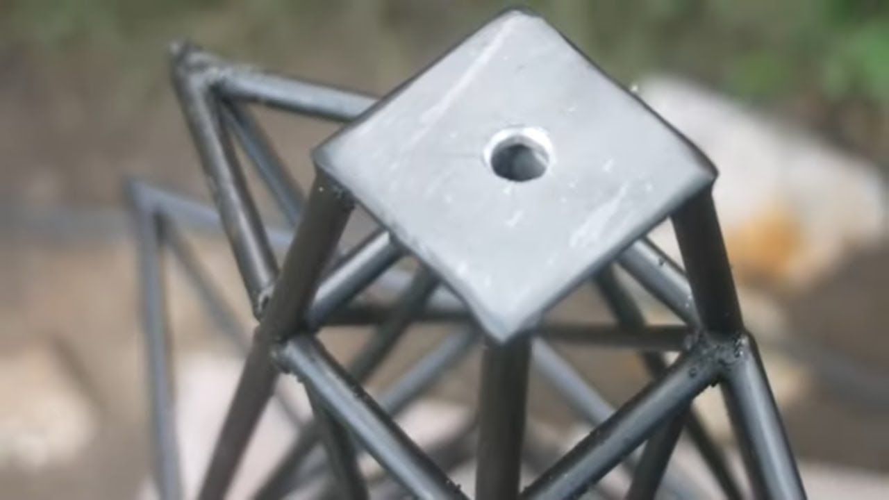 I make a Metal Industrial Style Creative Line Tower  - MIG Welding idea