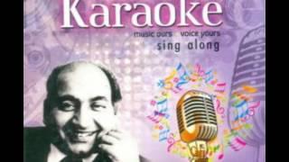 Tu Es Tarah Se Meri Zindagi Me Shamil Hai Karaoke Original Music (M-Rafi)