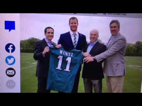 Carson Wentz Eagles Jersey #11 Introduced Today