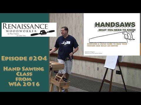 Hand Sawing Class from Woodworking in America 2016