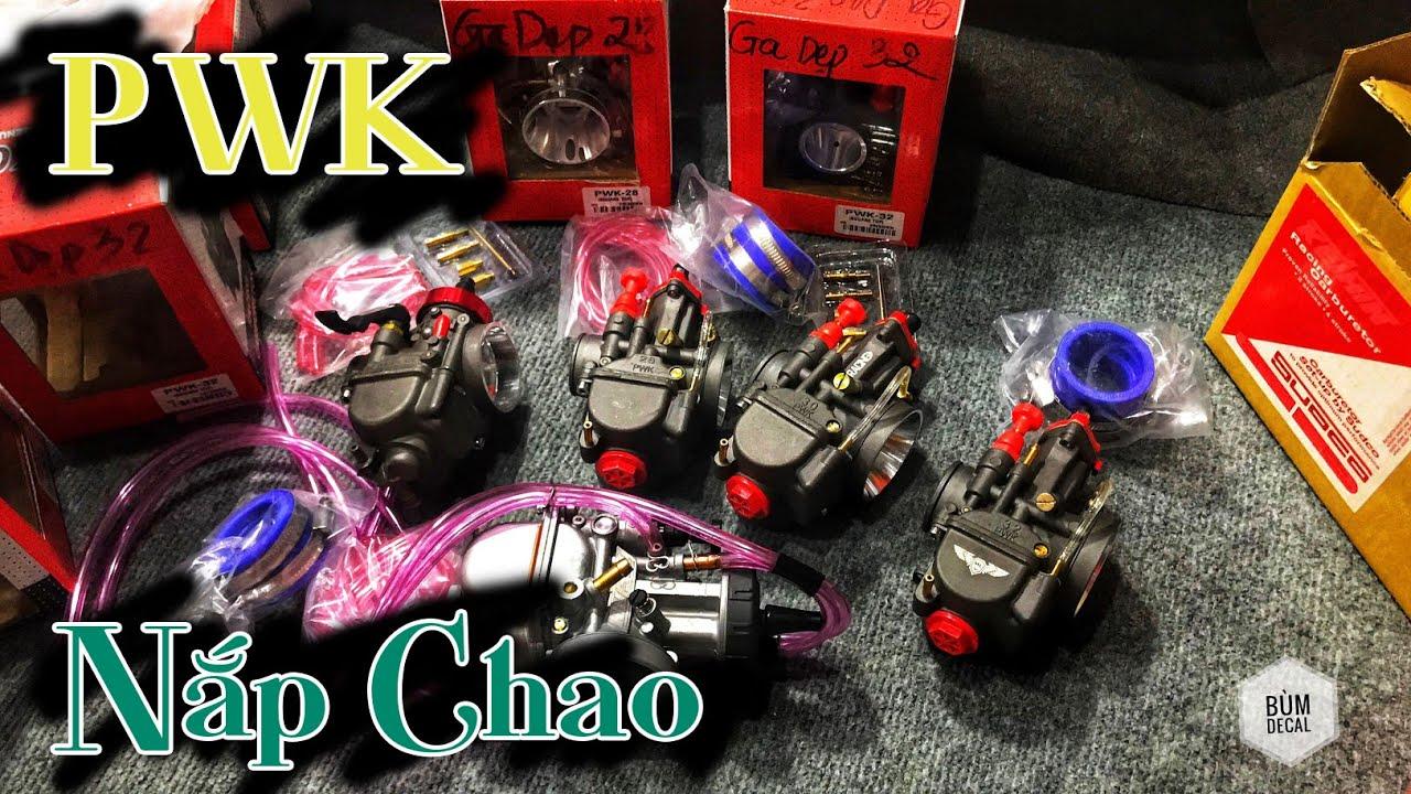 Bùm TV | Bình Xăng PWK OKO MCRACING 28, 30, 32 | Bình Xăng Nắp Chao PWK 35 Cánh Gió