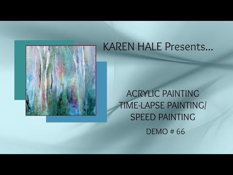 Abstract Acrylic Time-Lapse Painting/Speed Painting/Landscape/Trees/Layered Techniques
