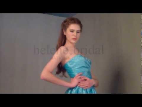 A-Line Ball Gown V-Neck Short Knee-Length Taffeta Bridesmaid Dress - Style BD5944 - HeleneBridal.com