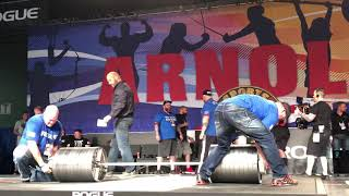 World record deadlifts attempt 501 kg by Hafthor Bjornsson I Arnold Classic 2019