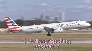 CLT Plane Spotting (60fps)