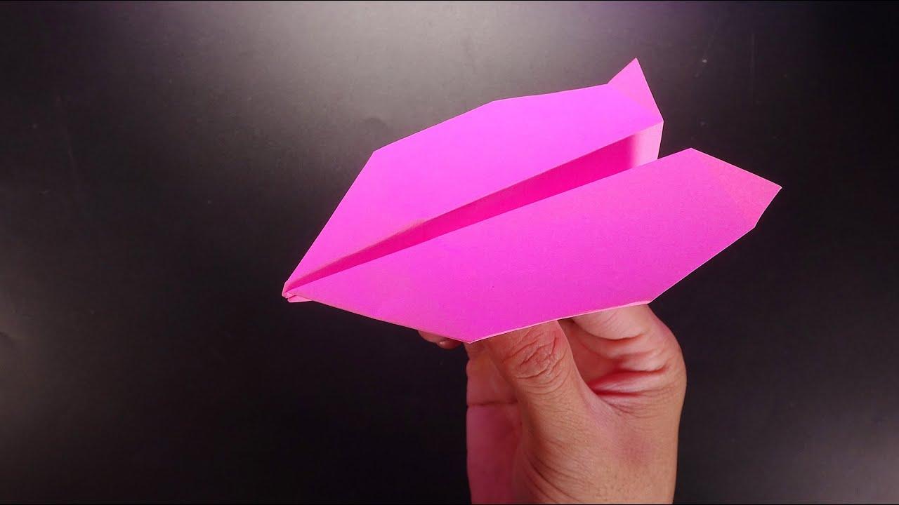 Làm Cho Bún Bắp Máy Bay Giấy _ Cách Làm Đồ Chơi Cho Con Tại Nhà Paper Boomerang Plane V9