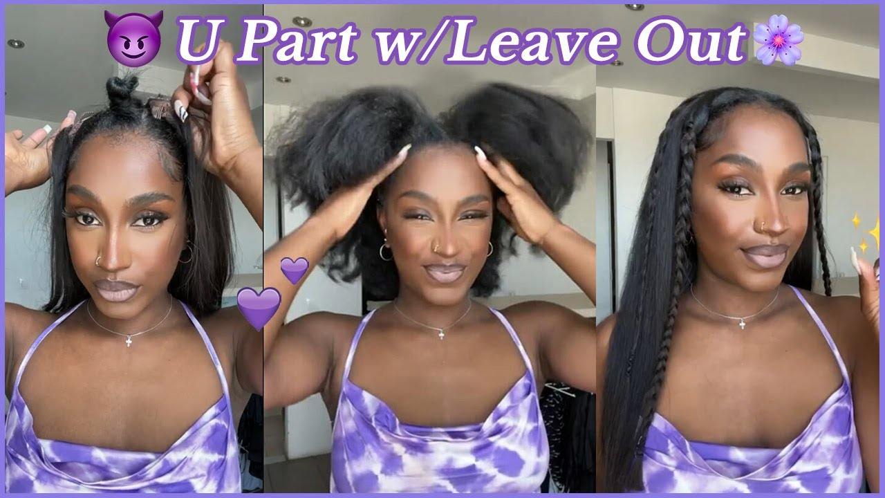 💜#ULAHAIR Client Real Review | U Part Wig Install With Leave Out! Natural Hair Protective