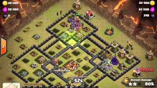 5 star war, clash of clans, WHEN JUMP IS NEEDED IN ORDER TO BE SUCCESSFUL. DEMONSTRATION- 2 replays