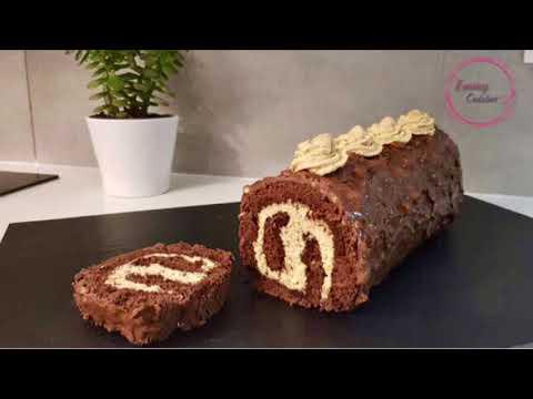bûche-de-noël-/-roulé-au-chocolat-noisettes