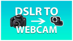USE ANY CAMERA AS A WEBCAM (no camlink required)