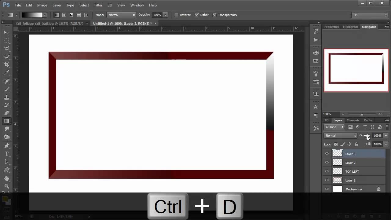 Photoshop hindi tutorial episode 16 photo gallery frame youtube baditri Images