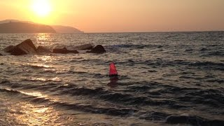 RC sailboat Footy in the waves