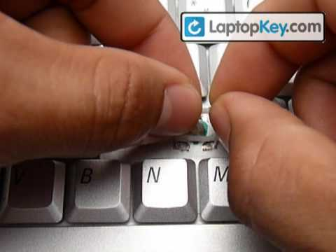 Replace A Key Cap DELL Laptop Computer Keyboard | Repair Intallation Guide For Keycaps
