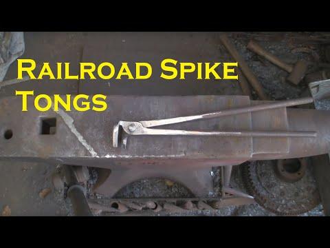 Railroad spike tongs