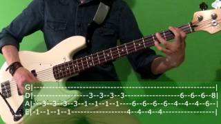 Fall Out Boy w.a.m.s. Bass Cover + TABs