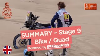 Summary - Bike/Quad - Stage 9 (Pisco / Pisco) - Dakar 2019