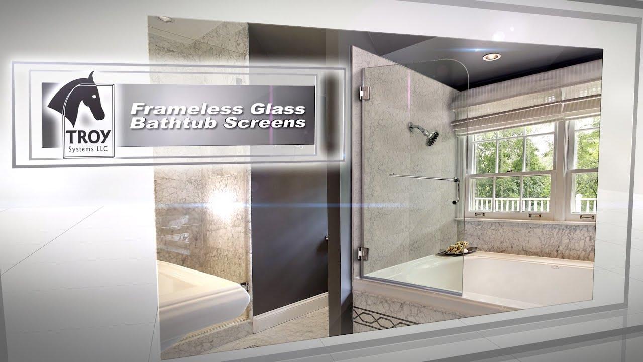 Frameless Glass Bathtub Screens   Dulles Glass & Mirror - YouTube