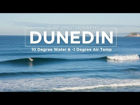 Surf Photography - Winter Surf Session In Dunedin, New Zealand
