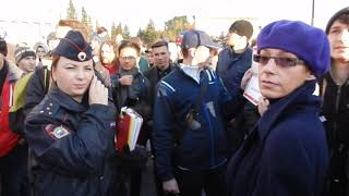 Митинг за Навального в Новосибирске 7 октября 2017