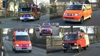 [SCHWERER VERKEHRSUNFALL] Einsatzfahrten Feuerwehr, Rettungsdienst & Polizei Lippstadt / Kreis Soest