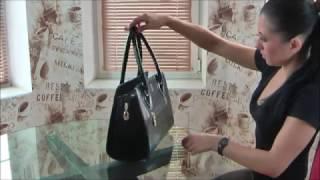 Лаковые сумки(Короткий видео обзор лаковых сумок от винницкой фабрики кожгалантереи -