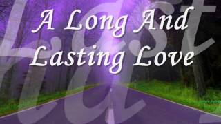 A Long And Lasting Love (Crystal Gayle with Lyrics) 2-15-15