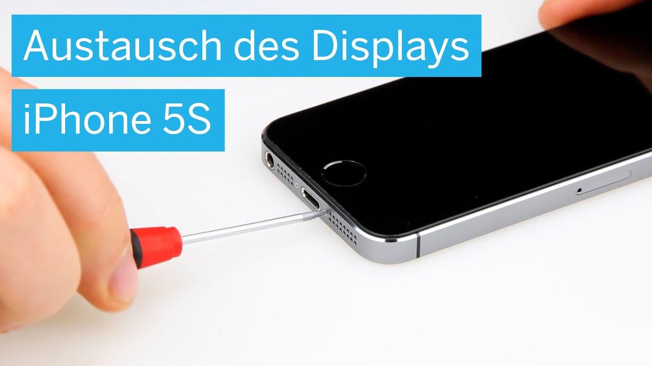 iPhone 5s - Display wechseln inkl. Rückbau - YouTube
