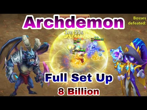 Deflect Damage | Archdemon | Full Set Up | 8 Billion Run | Castle Clash