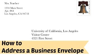 How to Address a Business/Formal Leтter Envelope
