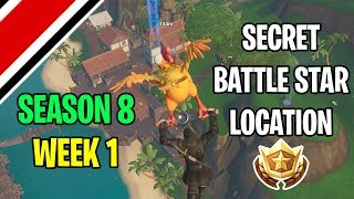 Fortnite Season 8 Week 1 Secret BattleStar Location (Discovery Challenges)