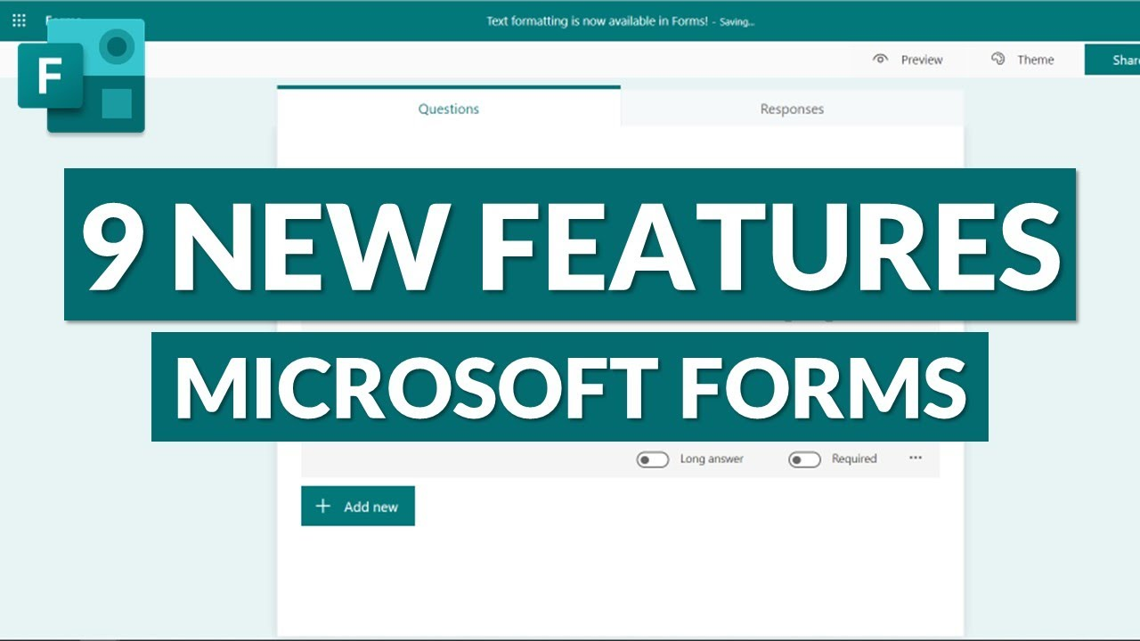 Microsoft Forms | 9 new features for 2021