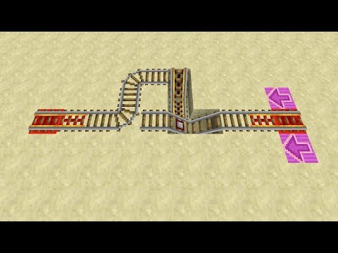Minecart Return Station For Long One-Way Trips -- Minecraft Redstone Tutorial