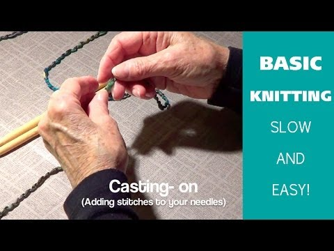 Knitting 101 : How to Cast On for Beginners [2 of 7] Doovi