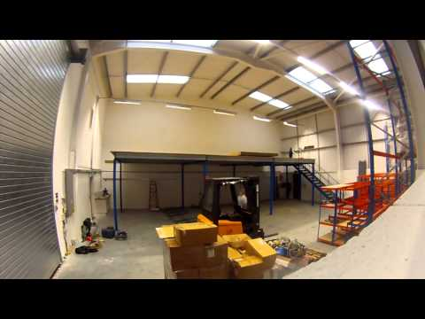 Western Industrial Business Interiors Mezzanine Timelapse Video