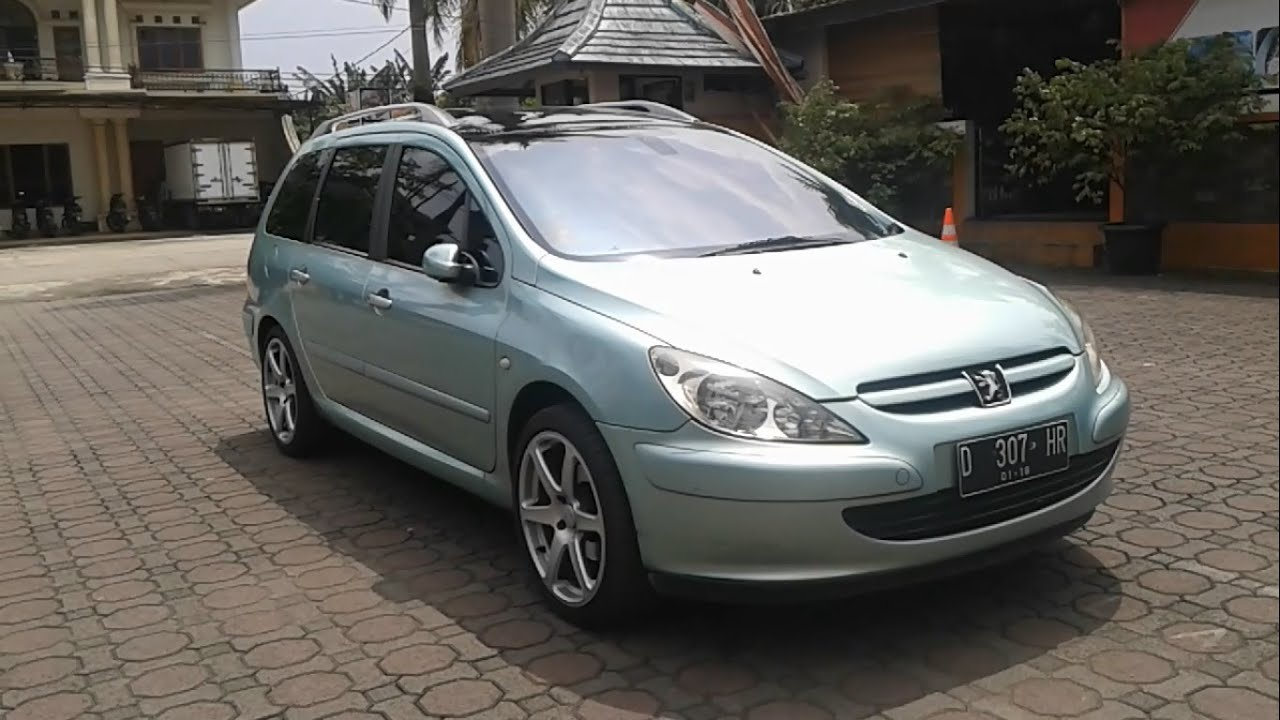2002 peugeot 307 sw 2.0. start up, in depth review, test drive
