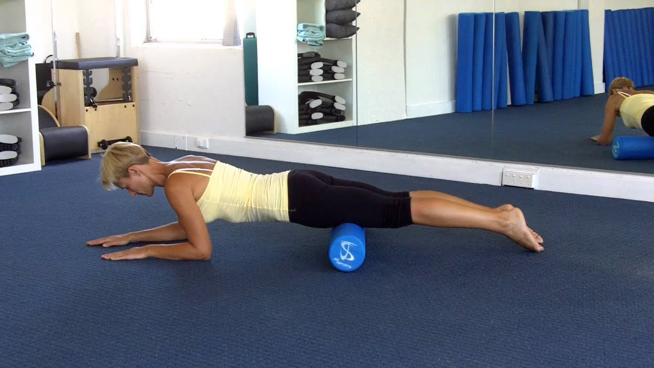 Pilates Foam Roller - myofascial release for thighs