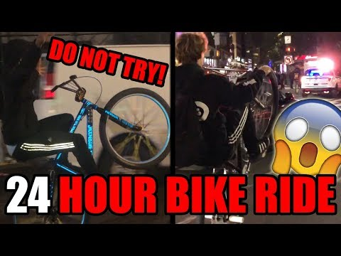 *FIRST EVER* 24 HOUR BIKE RIDE CHALLENGE! (DO NOT ATTEMPT)
