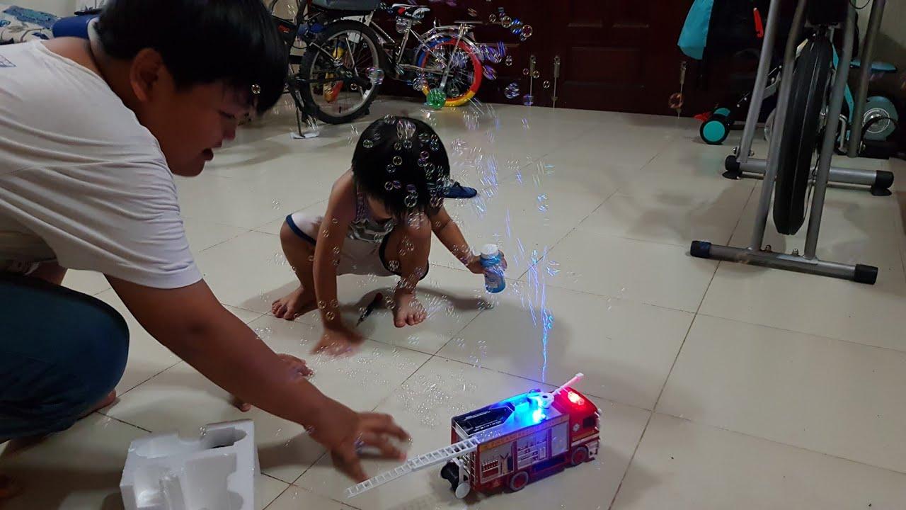 Đồ Chơi Xe Cứu Hỏa Phun Bong Bóng – Kids Toy Media