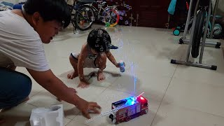 Đồ Chơi Xe Cứu Hỏa Phun Bong Bóng - Kids Toy Media